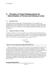 05 Principle of Virtual Displacements for Determination of Forces and Influence Lines