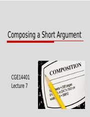 CGE14401 - Lecture 7 (Composing a Short Argument).pptx