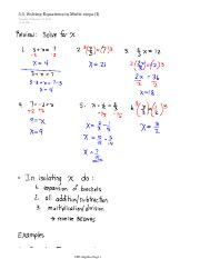 5.5 Solving Equations in Multi-steps (I)