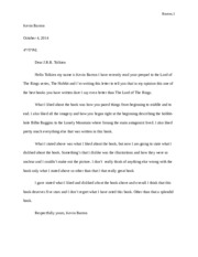 Letter to Author