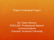 ENGL203 Phase 5 Individual Project