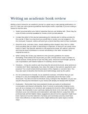 Writing an academic book review.rtf