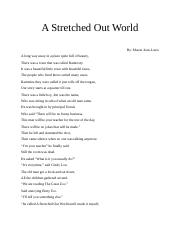A Stretched Out World.docx