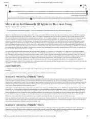 Motivation And Rewards Of Apple Inc Business Essay.pdf