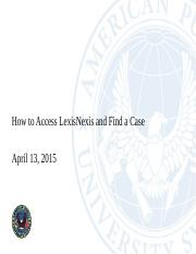 How to Access Lexis and Find a Case.pptx