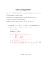 Lecture 19 Worksheet Solution