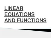 CH-1 LINEAR EQUATIONS AND FUNCTIONS& GRAPHS-(PowerPoint presention version)-1