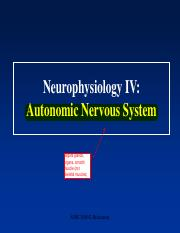 Lecture 5-Neurophysiology IV