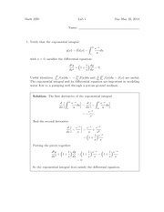 Lab 1 Solution on Differential Equations and Linear Algebra