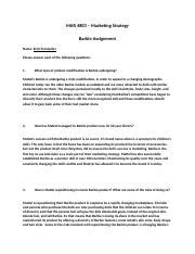 MAR 4803 Spring 2018 - Assignment 2 Worksheet - Barbie.doc