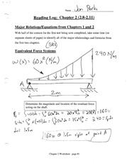 Equivalent Force Systems Notes