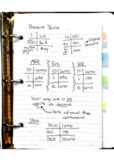 Verb-Present and conversational past notes