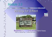 Module 3.3 Writing for Effect