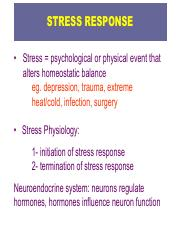glucocorticoids and stress