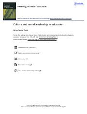 Culture and moral leadership in education.pdf