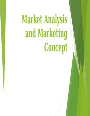 1-Market Analysis and Marketing Concept