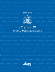 Physics 30 June 2000 Diploma Exam