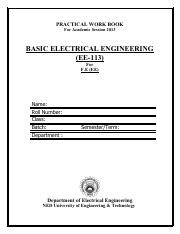 EE-113 BASIC ELECTRICAL ENGINEERING_2013