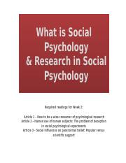 Week 02 - What is Social Psychology &  Research in Social Psychology [Autosaved]
