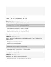 Exam 02.02 Innovation Nation.odt