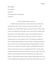 moll flanders conclusion response the marxist idea that physical  7 pages jane eyre feminist essay