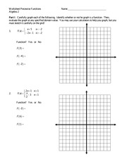 Graphing Piecewise Functions Excersice