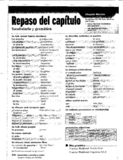 Beginning spanish II 007 Review Sheet