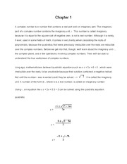 Calculus 1 Chapter 1
