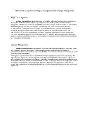 Difference Concept between Project Management and Strategic Management.docx