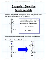 Example Junction Diode Models