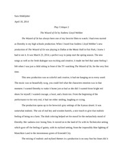 Play critique essay