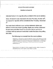 EE313 TTH Exam _1 Solution Fall 2010