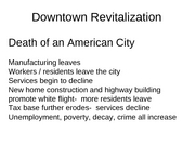 5 Downtown Revitalization notes
