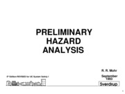 Chapter 2 Preliminary Hazard Analysis