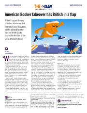 1906 American Booker takeover has British in a flap
