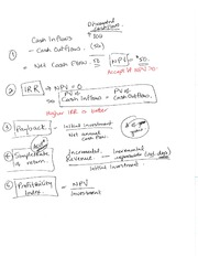 Chapter 13 notes - Investment decisions