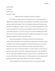 A brilliant solution essay