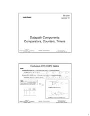 ee120a Lecture 15 - Datapath Components - Comparators, Counters, Timers (Slides 2x1 bw)