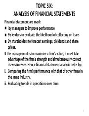 BAC_203-TOPIC_SIX-_ANALYSIS_OF_FINANCIAL_STATEMENTS