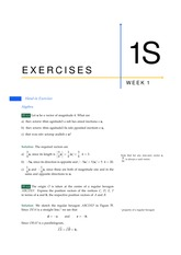 Answers to 1S Exercises from Week 1 (All Solutions)