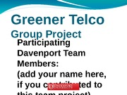 Group D Greener Telco project PP