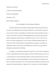 Gender & Communication Research Paper - Rights of Syrian & Muslim Refugees.docx