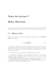 Lecture07-Holes-Electrons