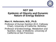 #2 - Obesity-prevalence, consequences. energy balance (3-29)
