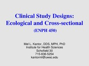 ENPH 450_Cross-sectional and Ecological
