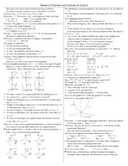 Math 140 Exam 2 Study Guide