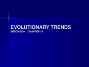 EVOLUTIONARY TRENDS chap19
