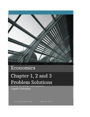 Maya Robinson Global Economic Environment Unit 1 Chapters 1,2 and 3 problem solutions