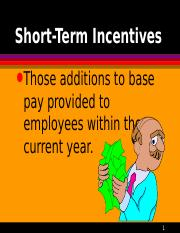 Ch 14 Short Term Incentives