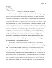 black boy essay matt hickey it was no easy life for a person of 4 pages black boy essay